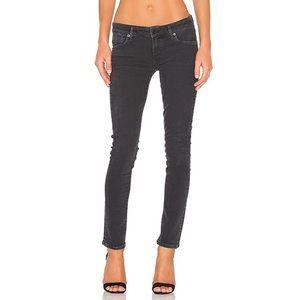 AGOLDE Chloe Black Low Rise Slim Jeans in Chelsea